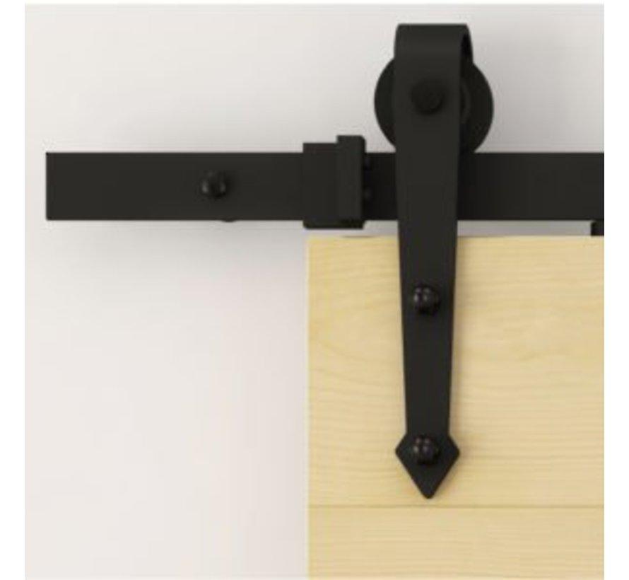 Schuifdeur systeem Zwart Authentiek Punt