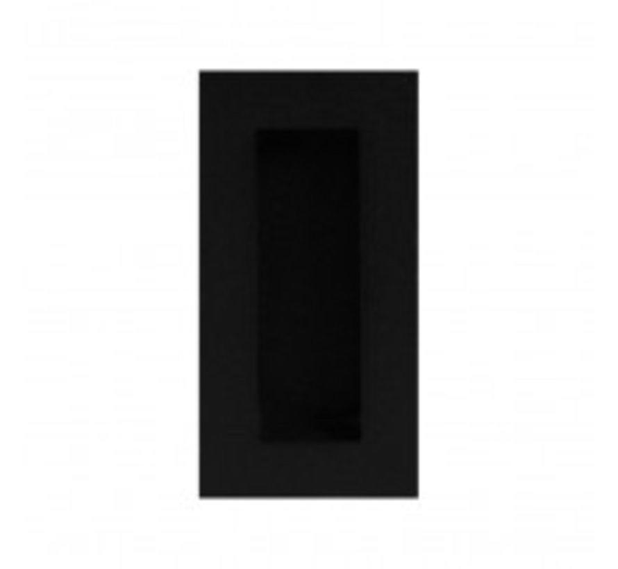 Verzonken schuifdeur handvat mat zwart
