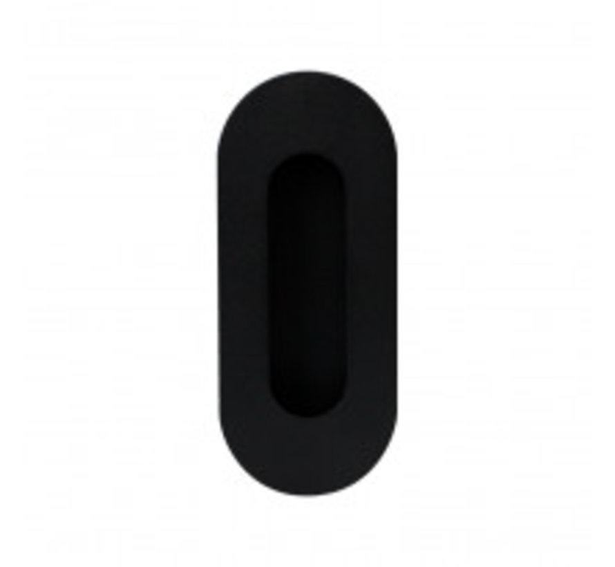 Infreesgreep Zwart Schuifkom mat zwart Ovaal