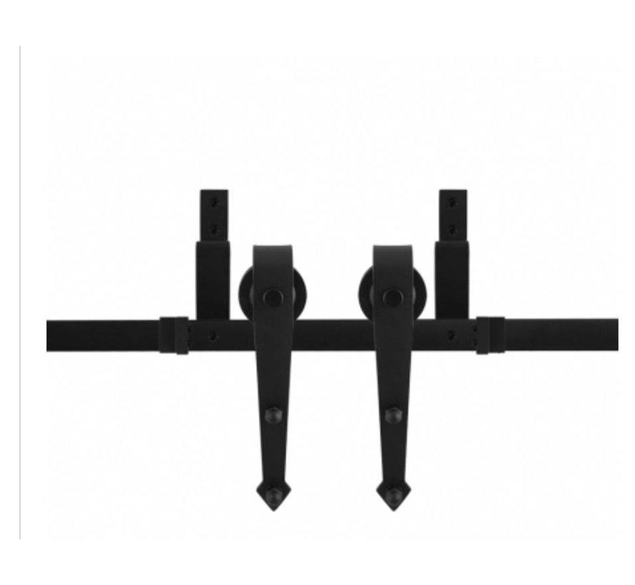 dubbele rail voor schuifdeuren