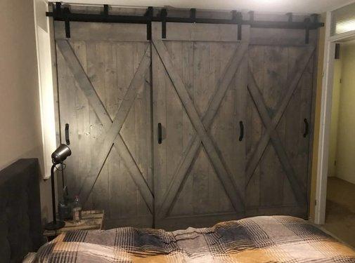 Schouten Woonidee Schuifdeur Steigerhout Old Style Grey Wash