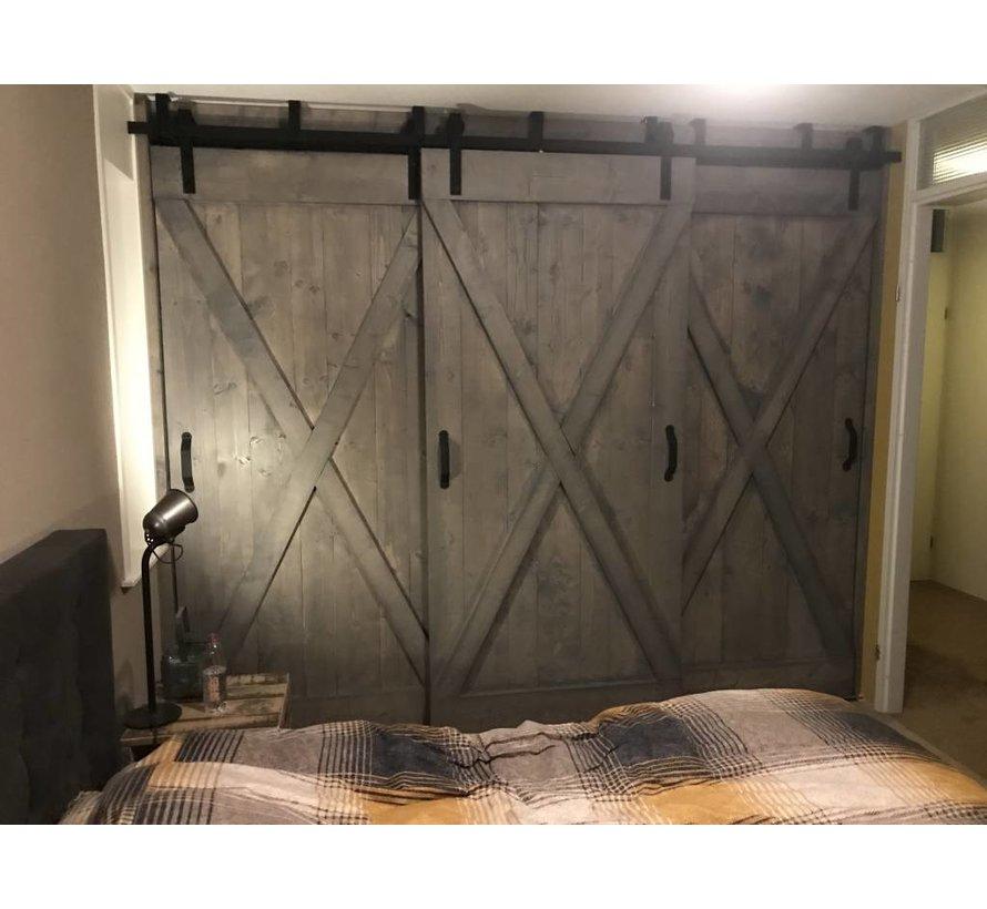 Schuifdeuren Steigerhout Old Style op maat Grey Wash