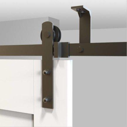 Schuifdeur aan plafond bevestigen