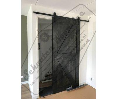 Schouten Woonidee Moderne zwarte Schuifdeur Binnen