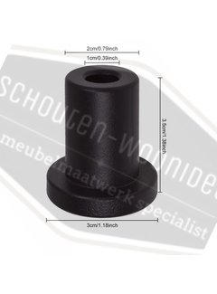Schouten Woonidee Vulbus 35mm (met zwarte ring en bout + plug)