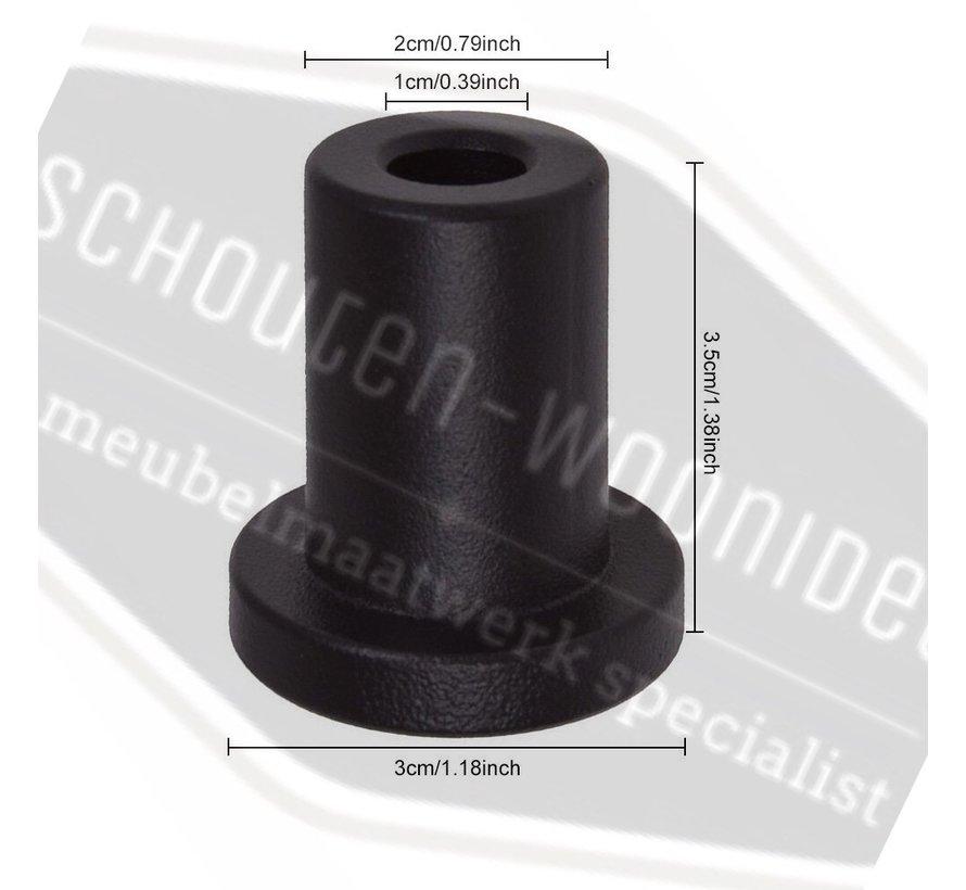 Afstandbus voor standaard schuifdeursysteem deurdikte tot 45mm