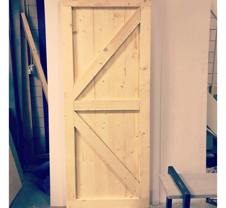 Loftdeur onbehandeld  Steigerhout