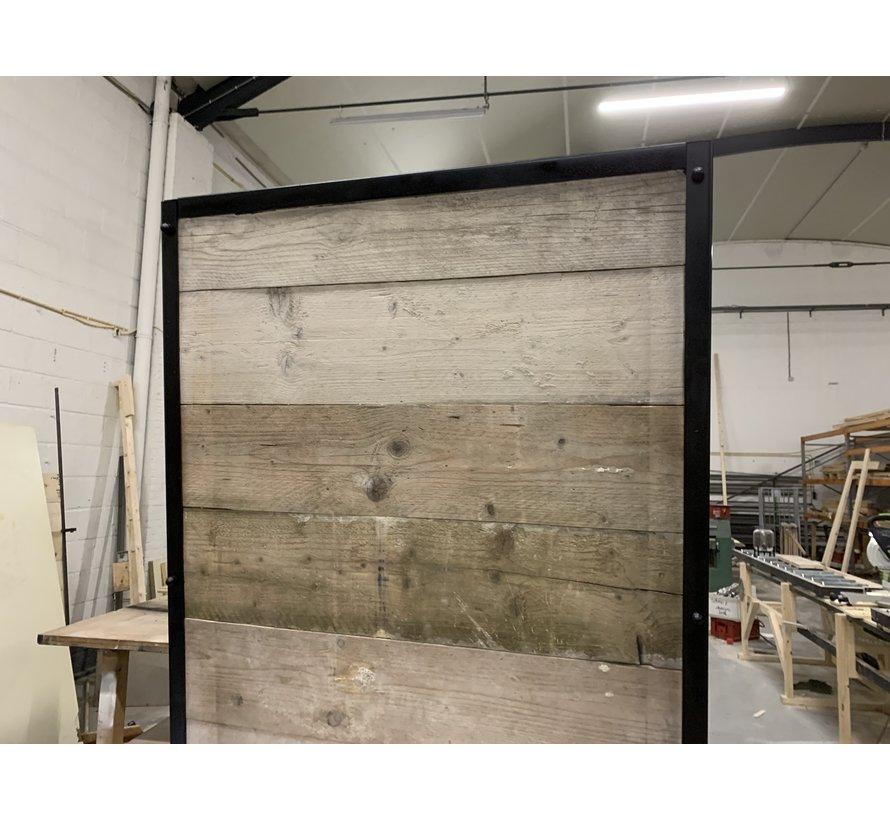 Loftdeur Steigerhout Oud Grijs met Staal frame