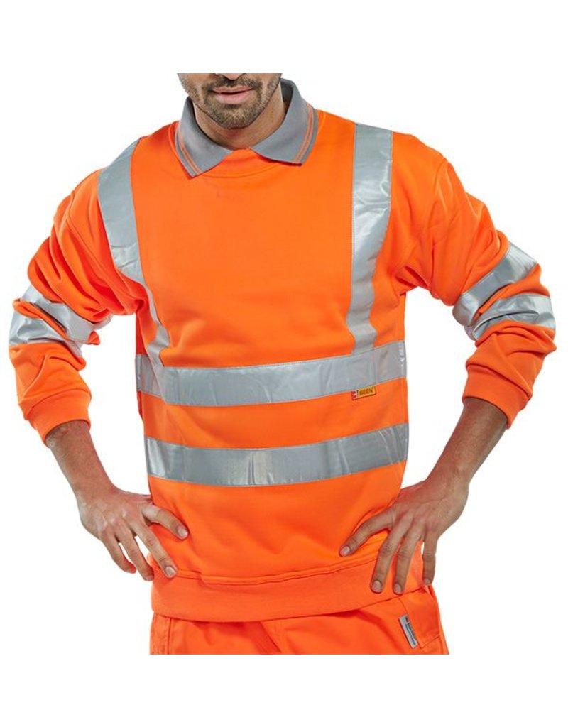 B Seen B Seen Hi Vis Safety Sweatshirt