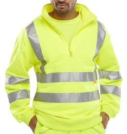 B Seen Hi-Vis Zipped Sweatshirt