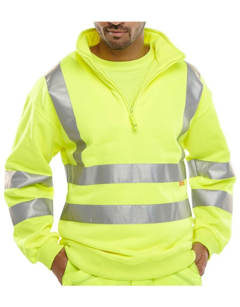B Seen B Seen Hi Vis Zipped Sweatshirt