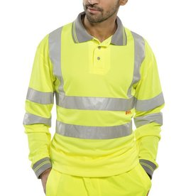 Super Touch Hi-Vis Long Sleeved Polo