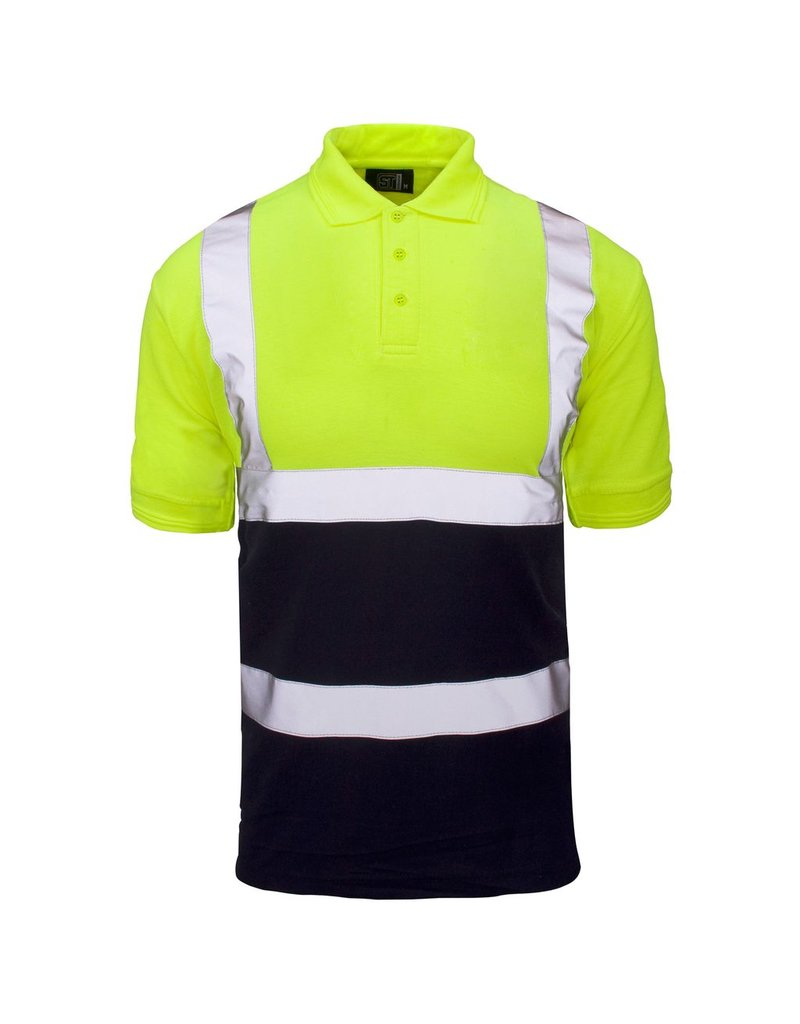Super Touch Super Touch Two Tone Hi Vis Polo