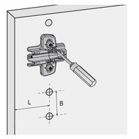 Softclose Scharnier Middenwand met Excenterschroef 110°