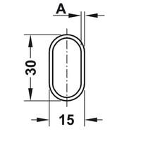 Kastroede Chroom Ovaal 1000mm Staal