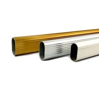 Kastroede Goudkleurig Ovaal 1000mm Aluminium
