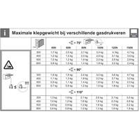 Gasdrukveer – Automatische Opening – 60N Omhoog
