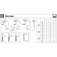 Gasdrukveer – Automatische Opening – 80N Omhoog