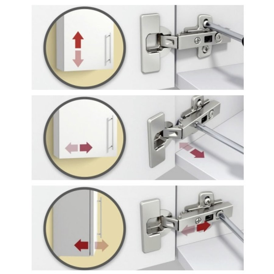 Softclose Scharnier Voorliggend 110° – Luxurious