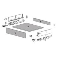 Zelfbouwlade GIULLIANO 500mm - Softclose zelfbouwpakket 80mm
