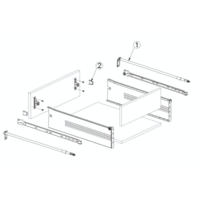 Zelfbouwlade BASIC 500mm - zelfbouwpakket 118mm