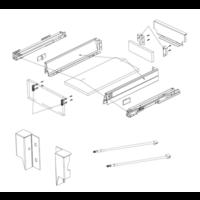 Zelfbouwlade ARETTI 450mm - Softclose zelfbouwpakket 80mm