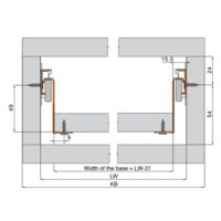 Zelfbouwlade BASIC 450mm - zelfbouwpakket 86mm