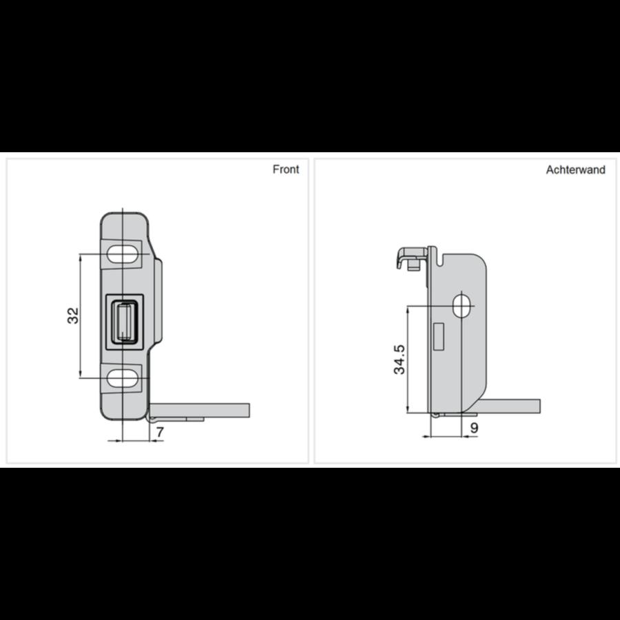 Zelfbouwlade BASIC 400mm - zelfbouwpakket 118mm