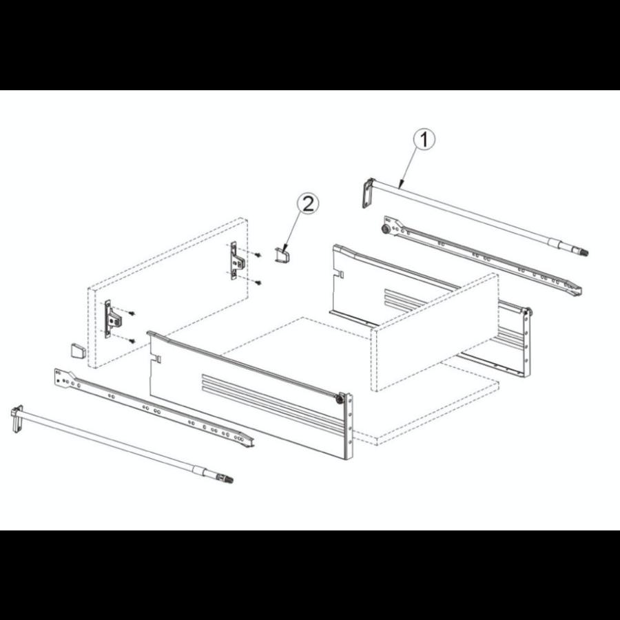 Zelfbouwlade BASIC 350mm - zelfbouwpakket 118mm