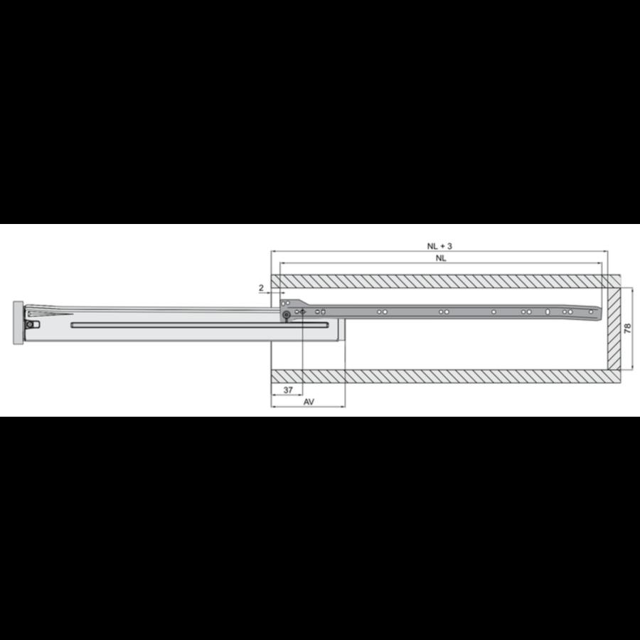 Zelfbouwlade BASIC  550mm - zelfbouwpakket 150mm