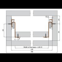 Zelfbouwlade BASIC 550mm - zelfbouwpakket 118mm