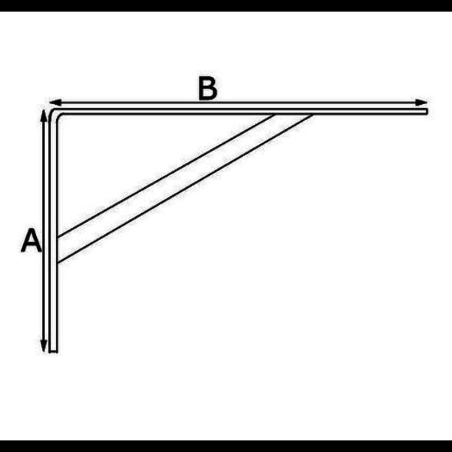 Schapdrager Staal Geperst Wit 100x75mm