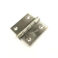 RVS Bladscharnier 50x50x1.5mm rechte hoek