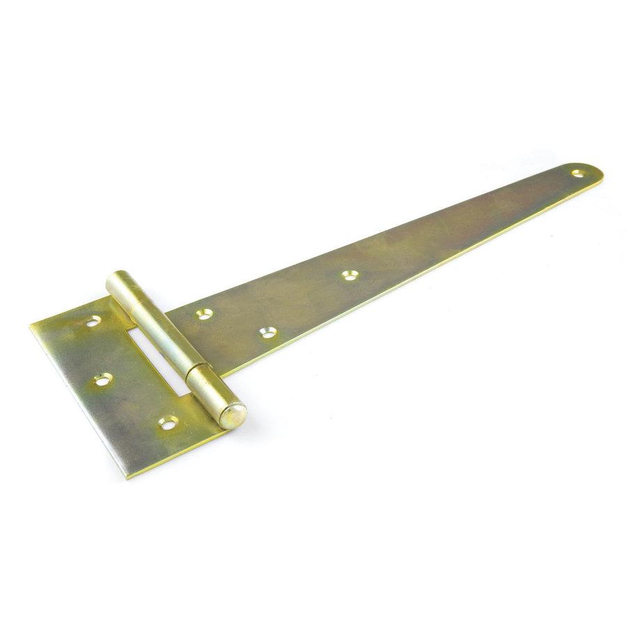 Geel verzinkt T-Heng 300x111mm - Engels Kruisheng