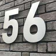 RVS Huisnummers + Toiletborden