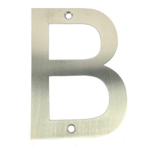 RVS bord letter B