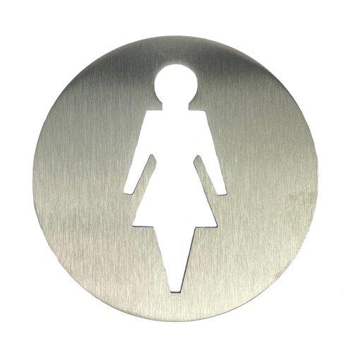 RVS bord damestoilet