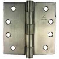 RVS Bladscharnier 101x101x3mm rechte hoek