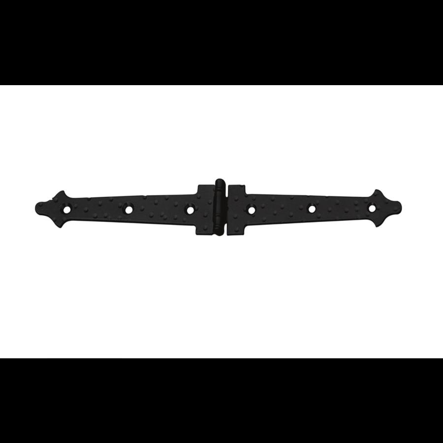 Zwart bladscharnier 90x22,5x1,5mm