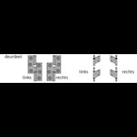 Franse Paumellescharnier 100x57x2mm - vierkante hoeken