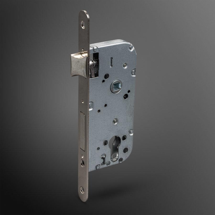 Cilinder insteekslot SATIN NICKEL 40x70mm rond