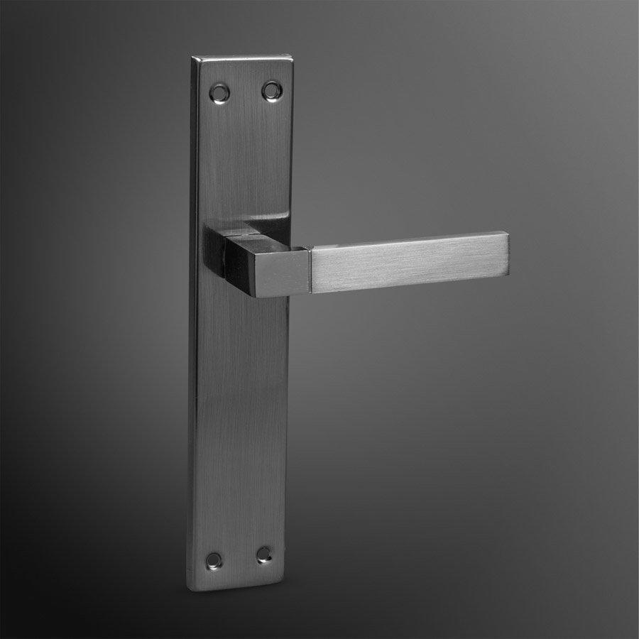 Deurkruk RVS recht A blind 245 x 45mm