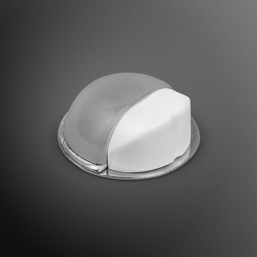 Deurstopper - chroom - plakken 50x22mm