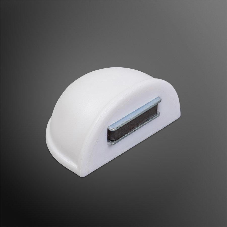 Deurstopper met magneet - wit - plakken 48x25mm
