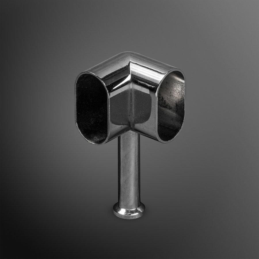Kastroededrager Chroom 15x30mm Hoek