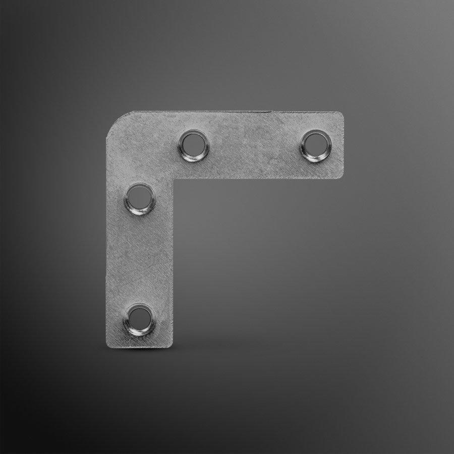 Raamhoek zink 50x14x0,9mm recht