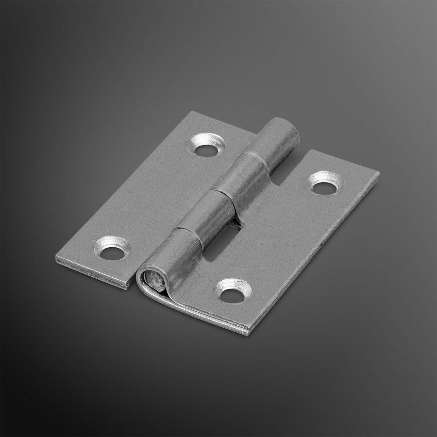 RVS Bladscharnier 50x40x2mm rechte hoek