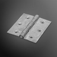 RVS Bladscharnier 70x60x2mm rechte hoek verzinkt