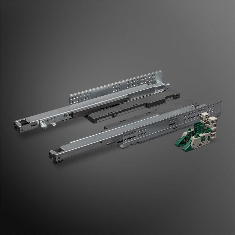 Softclose + Push to Open Deluxe Ladegeleiders 450mm