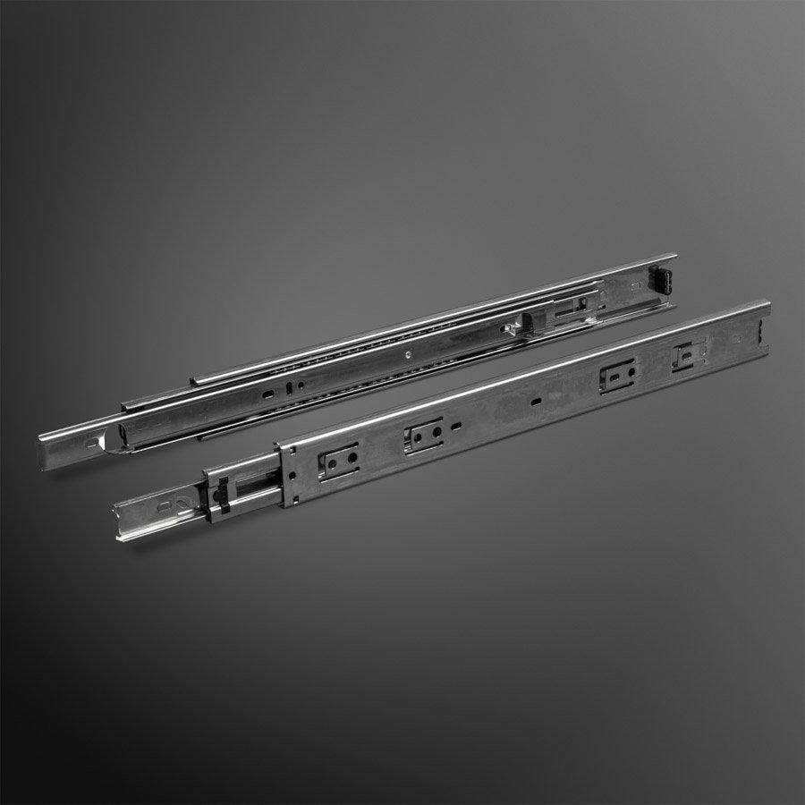 Volledig uittrekbare Ladegeleiders met Hoekstukken 400mm - 45KG